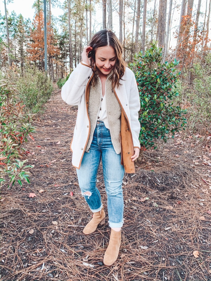 Madewell VS Old Navy: The Sherpa Coat